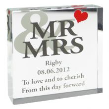 Mr And Mrs Large Crystal Token